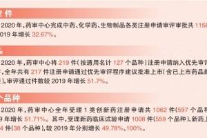 2020年度药品审评报告发布